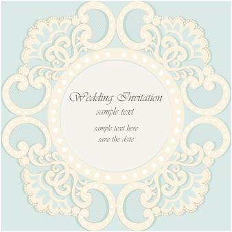 Sierlijke bruiloftuitnodiging