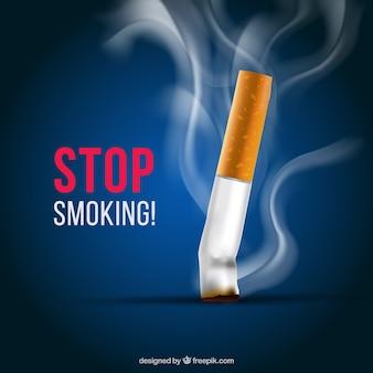 Sigaret op de achtergrond uit