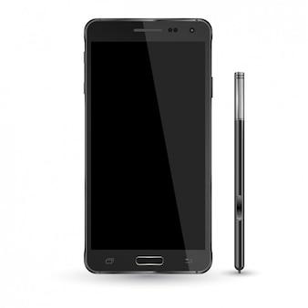 Smartphone en Potlood mockup