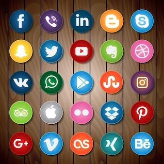 Sociaal netwerk iconen collectie