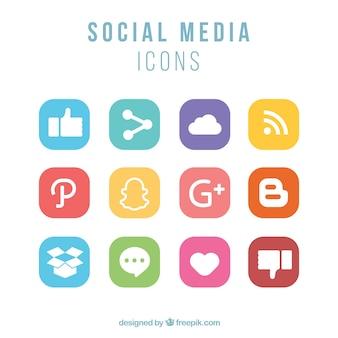 Social media pictogrammen instellen