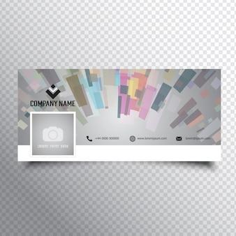 Social media tijdlijn cover met abstract ontwerp