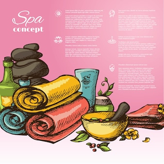 Wellness vectoren foto 39 s en psd bestanden gratis download - Spa ontwerp ...