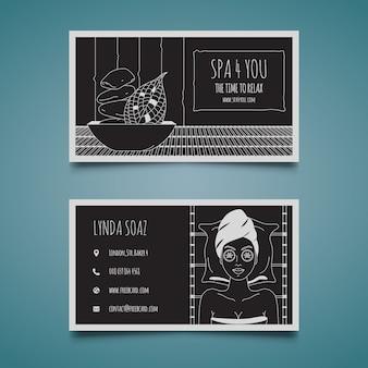 Spa visitekaartje sjabloon