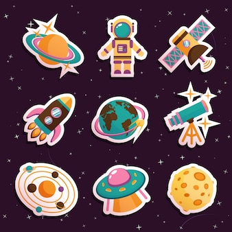 Space iconen collectie
