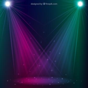 Podium verlichting vectoren foto 39 s en psd bestanden gratis download - Spotlight ontwerp ...