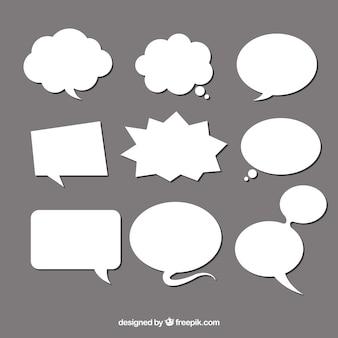 Speech bubble set van verschillende vorm