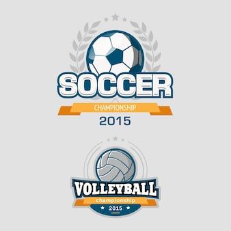 Sport logo sjablonen set