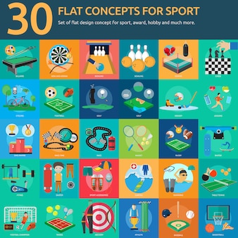 Sport ontwerpt collectie