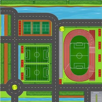 Sportcomplex luchtfoto