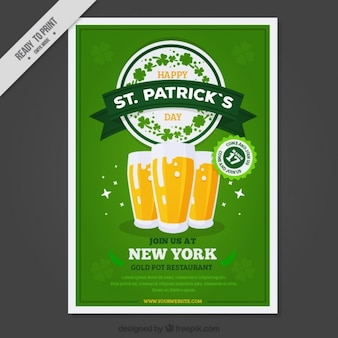 ST. Patrick dag bieren poster