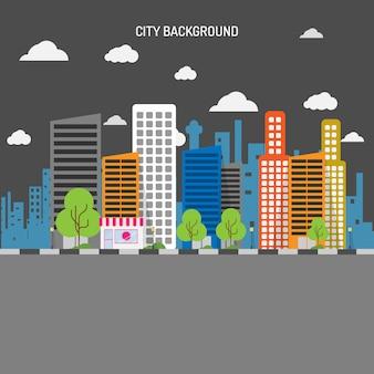 Stad achtergrond ontwerp
