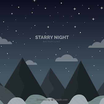 Sterrige nachtachtergrond