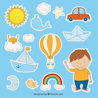 Stickers voor de kleine jongen
