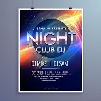 Stijlvolle nachtclub muziek partij flyer template design