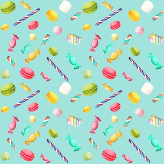 Suikergoed naadloos patroon