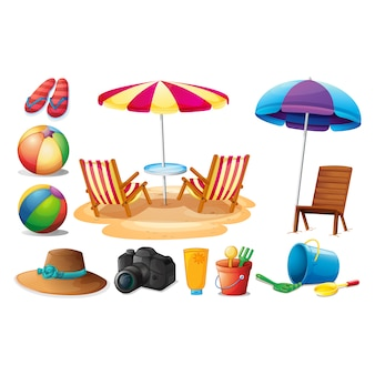 Summer elementen collectie