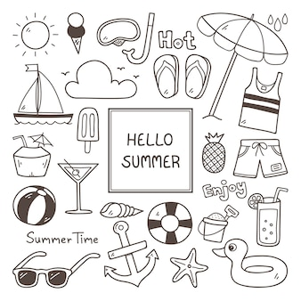 Summer icon set