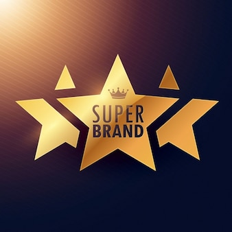 Super merk drie sterren gouden label voor uw promotie