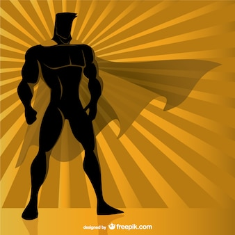 Superheld silhouet