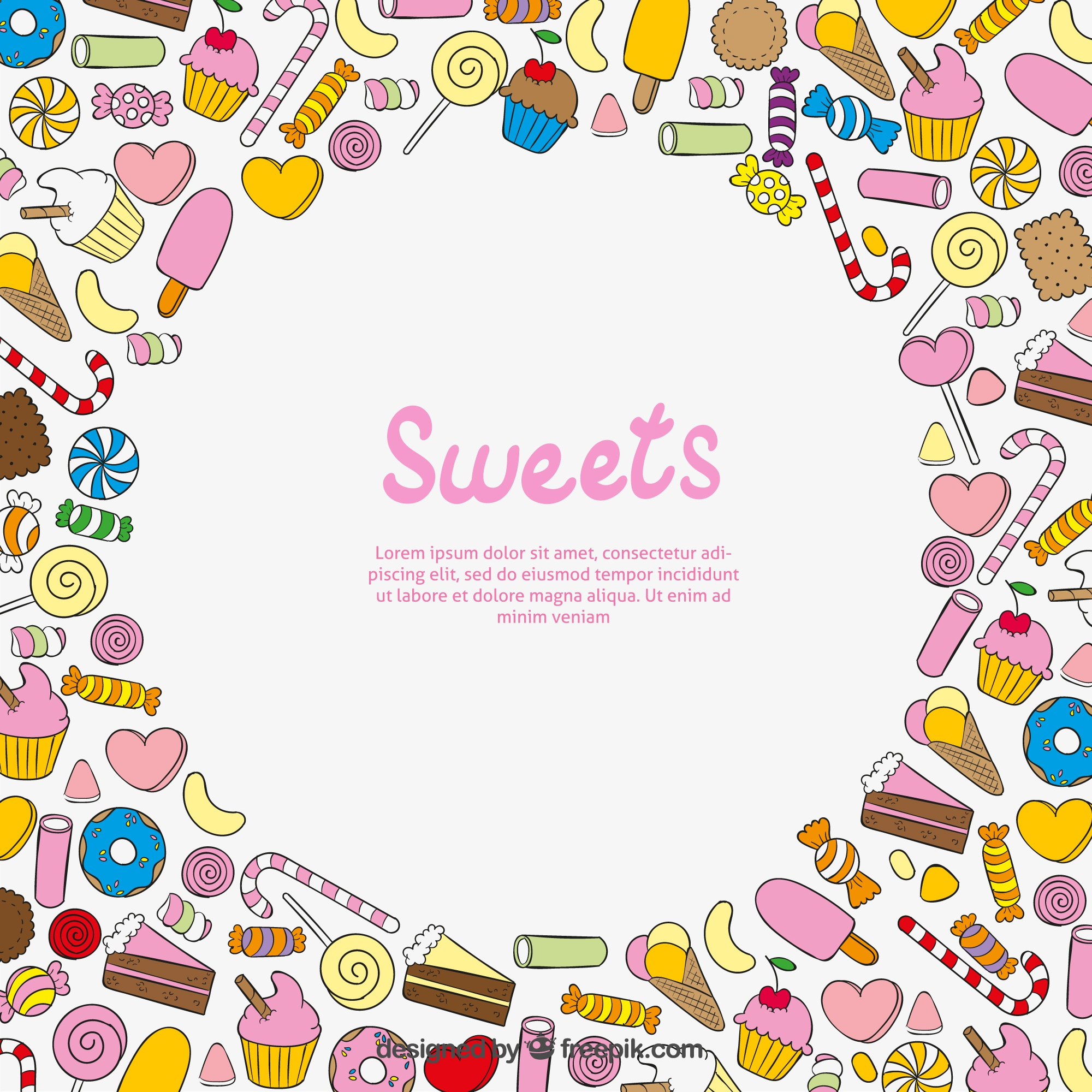 Sweets achtergrond