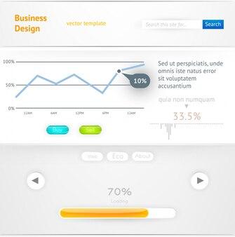 Symbool lijst-interface site internet