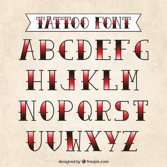Tattoo typografie
