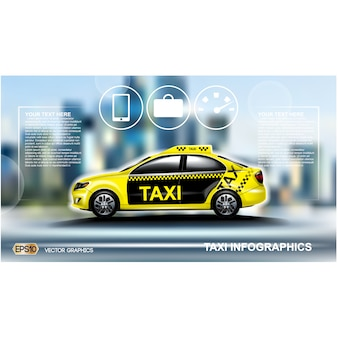 Taxi achtergrond ontwerp