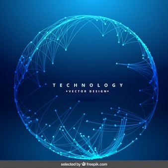 Technologie achtergrond met ronde mesh