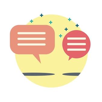 Tekstballon communicatie