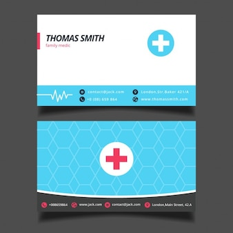 Template Blue Medical Business Card