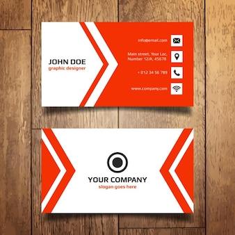 Template rode Business Card