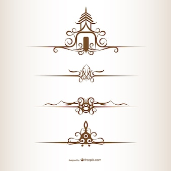 Thaise stijl ornamenten