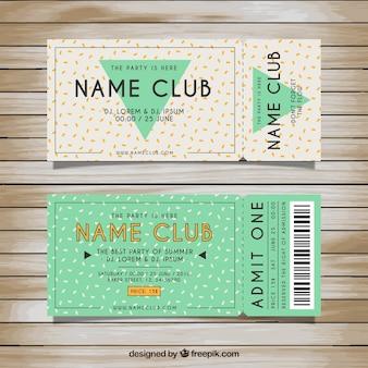 Tickets voor de party