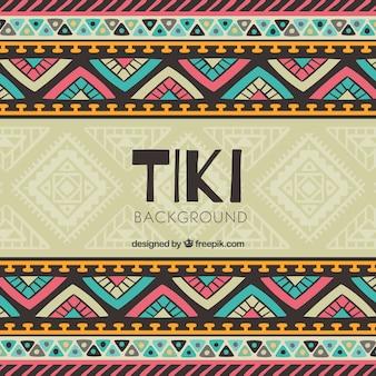 Tiki achtergrond met kleurrijk tribal design