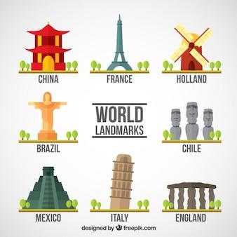 Toeristische wereld monumenten