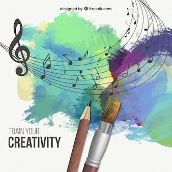 Train je creativiteit illustratie