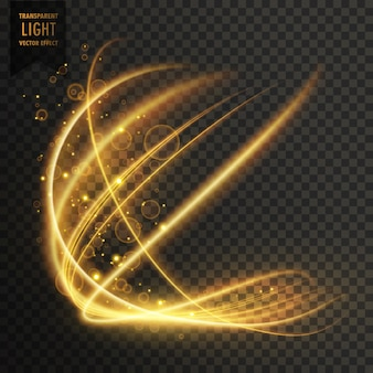 Transparante gouden licht effect fonkelende achtergrond