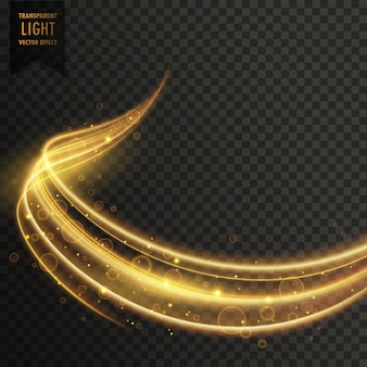 Transparante gouden lichteffect vector