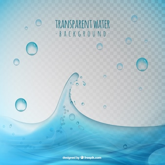 Transparante water druppel achtergrond