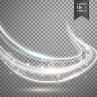 Transparante witte lichte streep vector achtergrond