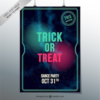 Trick or treat dance party vector