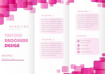 Trifold template ontwerp