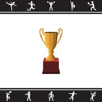 Trofee (beker). vector illustratie