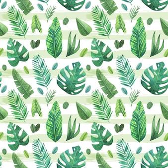 Tropische bladeren patroon achtergrond
