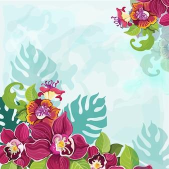 Tropische bloem achtergrond