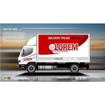 Truck achtergrond ontwerp