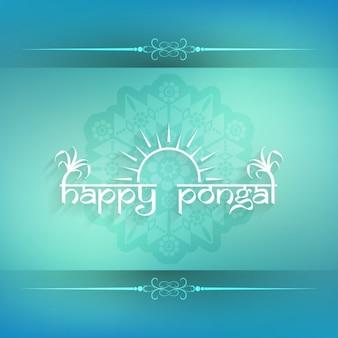Turquoise Pongal kaart