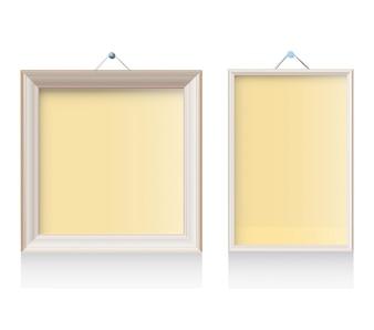 Twee frames op een witte achtergrond