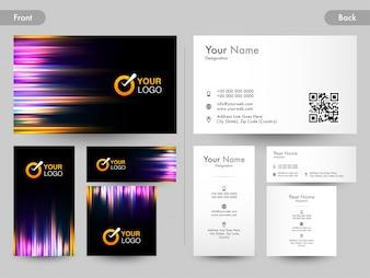 Tweezijdige presentatie van Creative Business Card.
